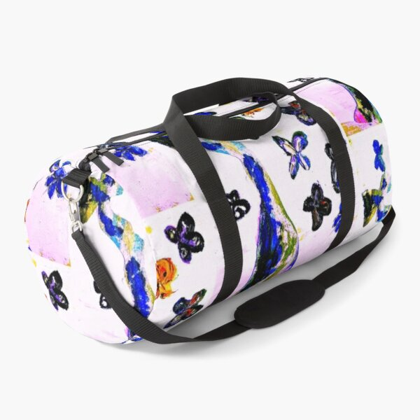 girl with butterflies Duffle Bag