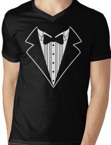 Fake Tux Tuxedo Suit Tie Mens V-Neck T-Shirt