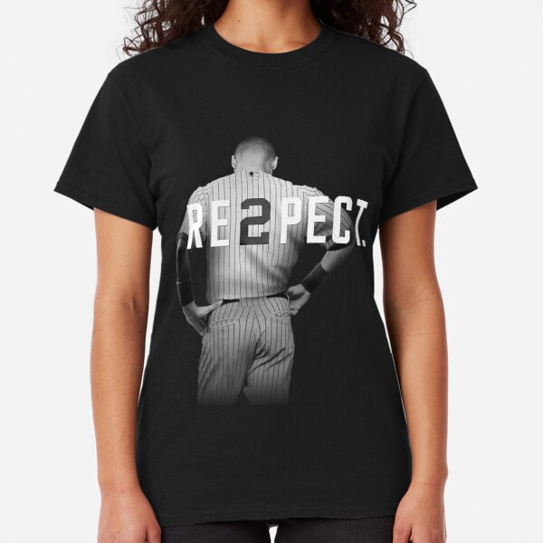 RESPECT DEREK JETER LADIES T-SHIRT Womens Shirt New York Yankees Retirement NY