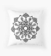 Peacock Mandala Throw Pillow