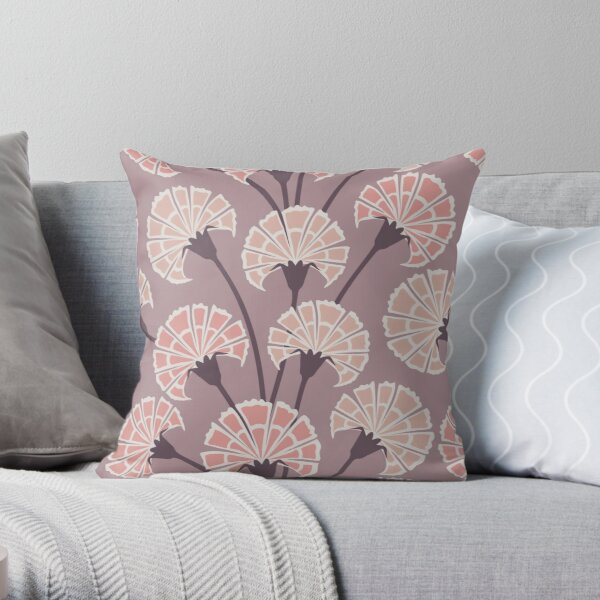 Scented carnations Throw Pillow