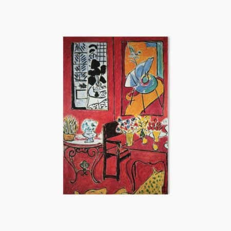 Grand Interieur Rouge Matisse 1948 Art Board Print