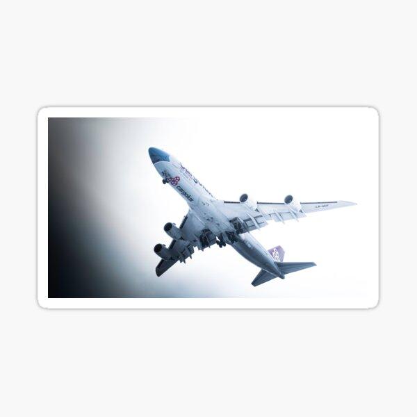 Cargolux 747-8 Landing - Not Without My Mask Livery Sticker