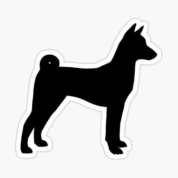 Basenji Silhouette(s) Sticker