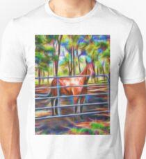 Proud horse behind gate T-Shirt