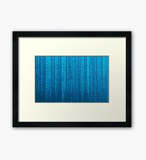 Binary Code Framed Print