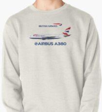 Illustration of British Airways Airbus A380 - White Version Pullover