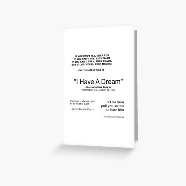 quotes by martin luther king jr sticker pack Greeting Card