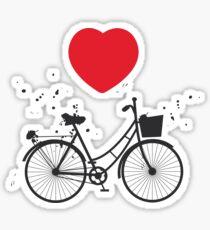 Bikes and hearts Sticker