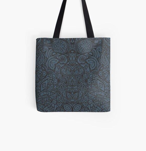 Maya - Bleu Tote bag doublé