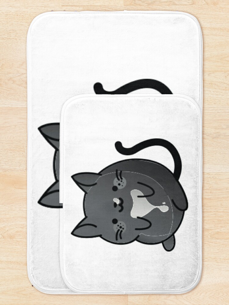 Alternate view of Ozzy the Cat Bath Mat