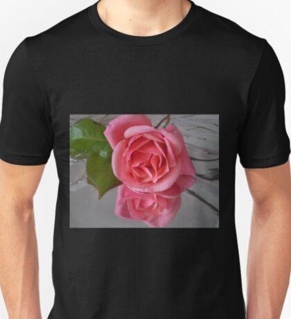Pink Reflections - single rose, Spring 2009 T-Shirt