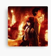 Okabe Rintaru Makise Kurisu Steins Gate Canvas Print