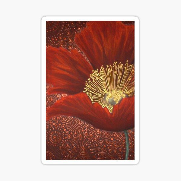 A Single Red Poppy Sticker