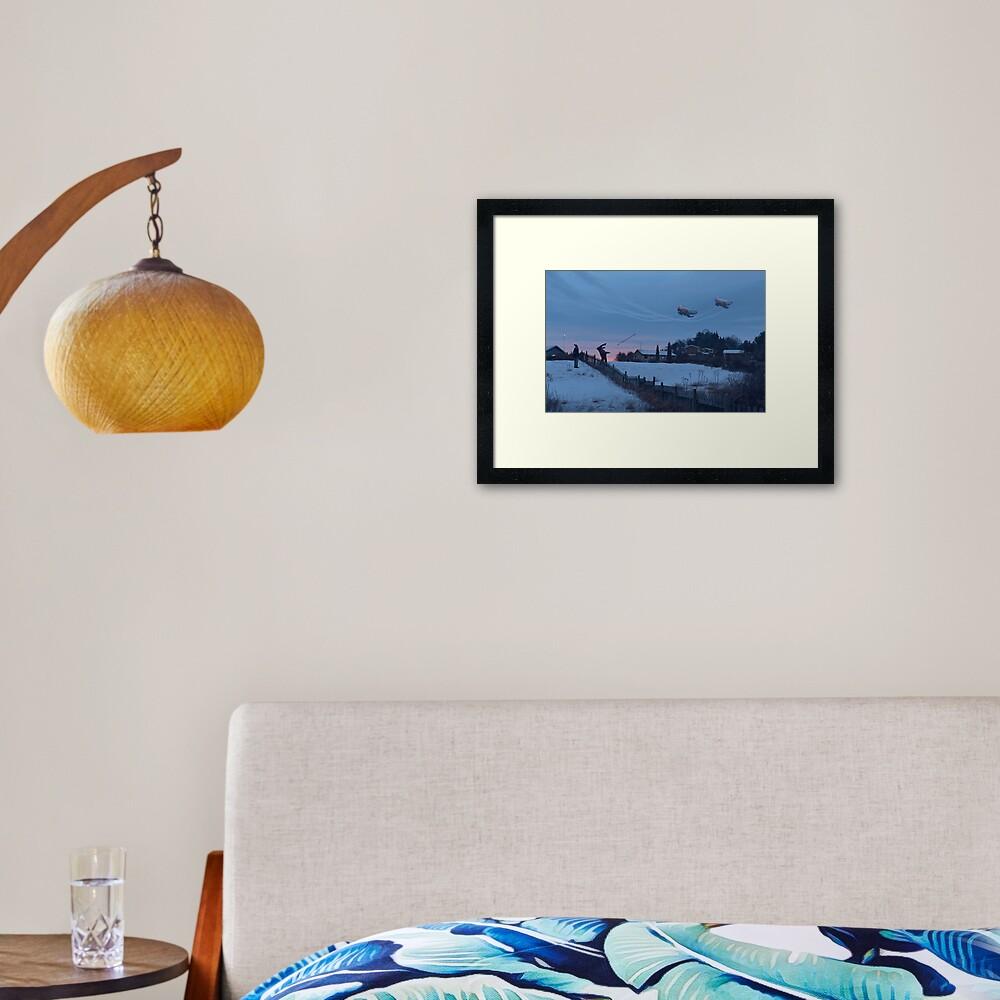 Flodhästen och Datamongot Framed Art Print