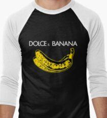 Dolce & Banana - Bananas Lovers Fruitarians Vegan Fashion  Tee / Sticker Men's Baseball ¾ T-Shirt