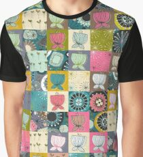 BLOOMS patchwork Graphic T-Shirt