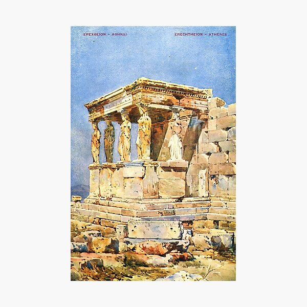Erechtheion of Acropolis in Athens Photographic Print