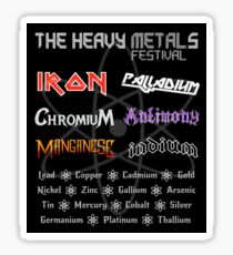 The Heavy Metals Festival Sticker