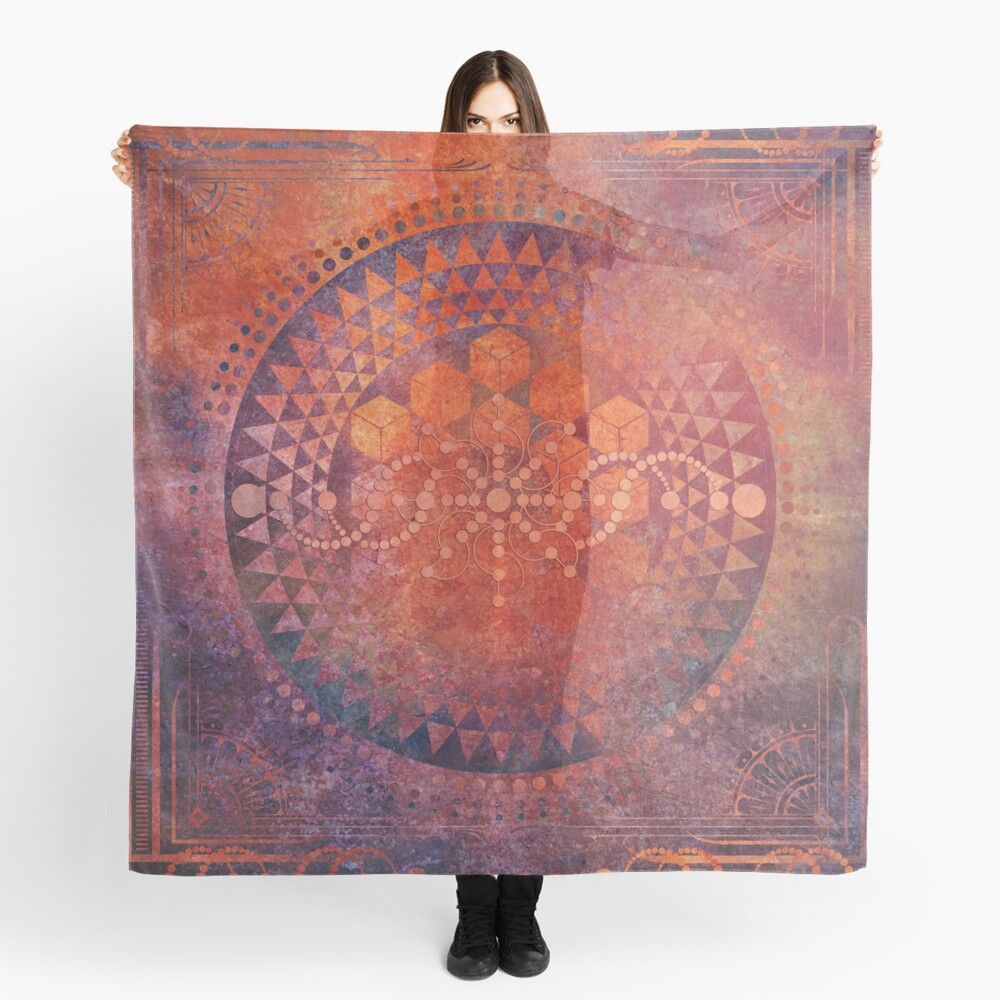 Desert Crop Circle Scarf
