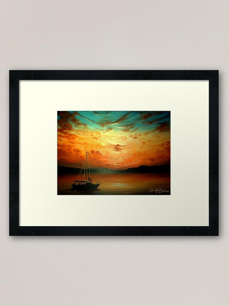 Alternate view of Sunset Sailing... Framed Art Print