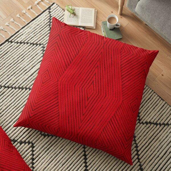 Knitting Red Floor Pillow