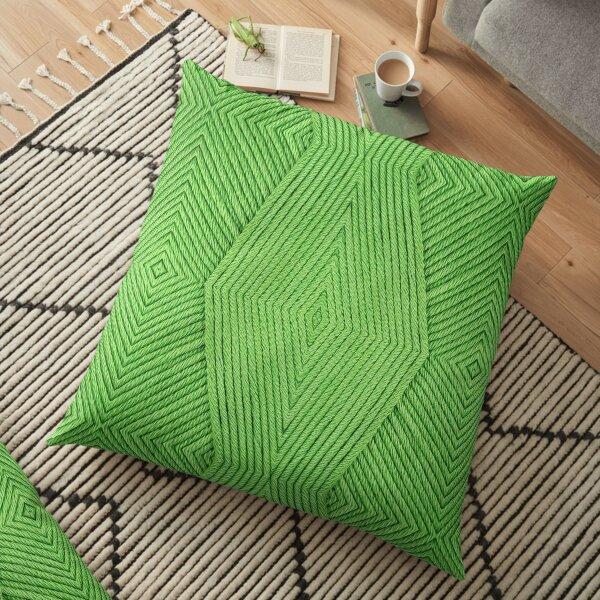 Knitting Green Floor Pillow