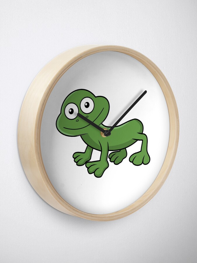 Alternate view of Sausage Frog Clock