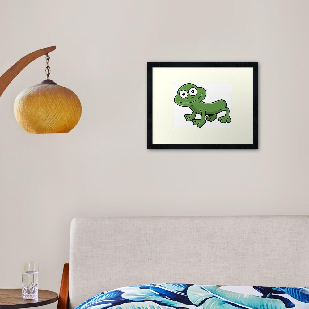 Sausage Frog Framed Art Print