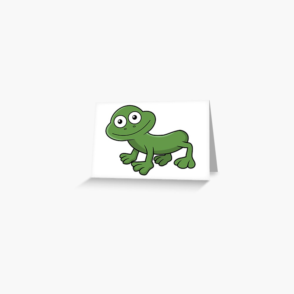 Sausage Frog Greeting Card