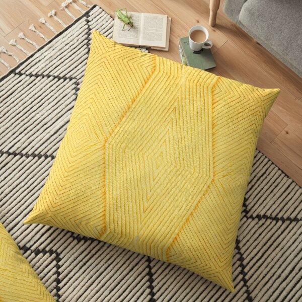 Knitting Yellow Floor Pillow