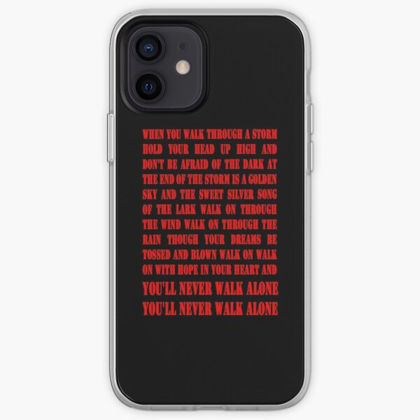 Vous ne marcherez jamais seul - ROUGE Coque souple iPhone