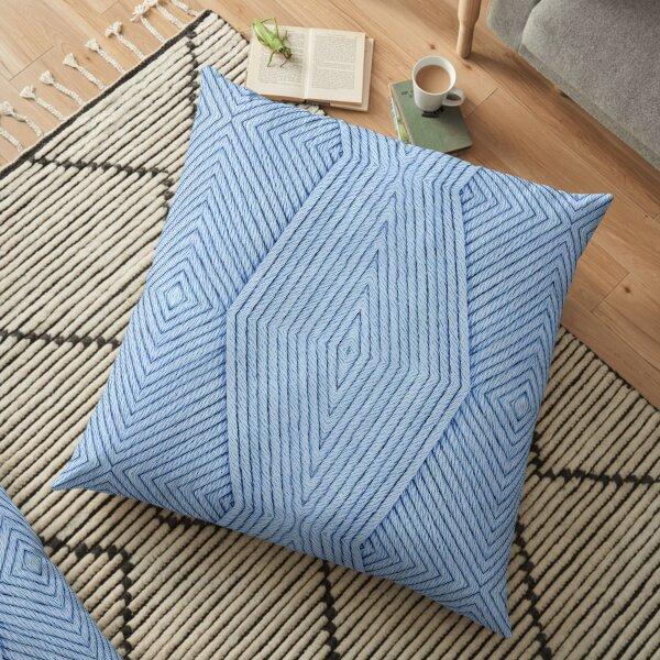 Knitting Light Blue Floor Pillow