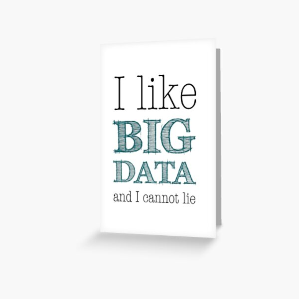 Big Data Greeting Card