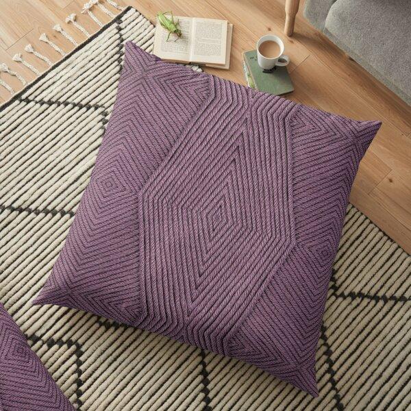 Knitting Purple Floor Pillow
