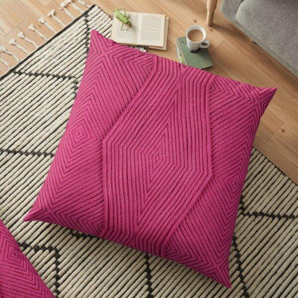 Knitting Pink Floor Pillow