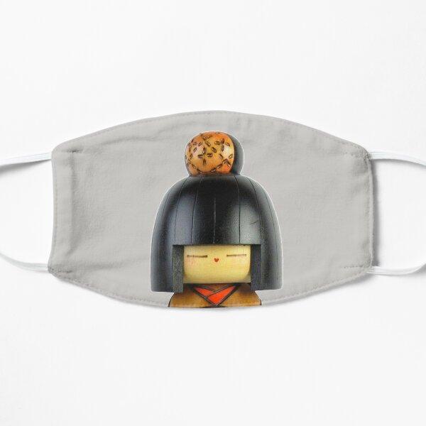 Traditional Japanese Wooden Kokeshi Doll (#3) Flat Mask