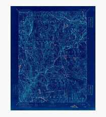 USGS TOPO Map Connecticut CT Gilead 331028 1892 62500 Inverted Photographic Print