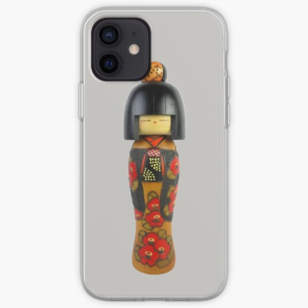 Traditional Japanese Wooden Kokeshi Doll (#3) iPhone Soft Case