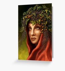 Keeper of the wood - nature goddess Greeting Card