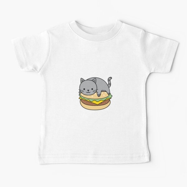 Cat Mom Burger - Funny Baby T-Shirt