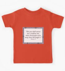 His Jest Shall Savour - Shakespeare Kids Clothes