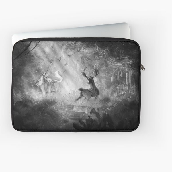 Deer Vs Unicorn Laptop Sleeve