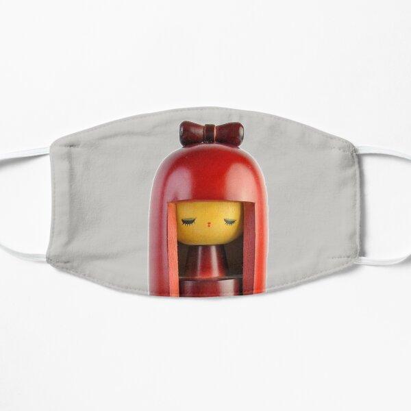 Traditional Japanese Wooden Kokeshi Doll (#4) Flat Mask