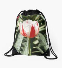 Tulip - Red and White Drawstring Bag