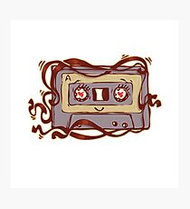 cute cassette tape Photographic Print