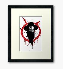 V for Vendetta Ink Framed Print
