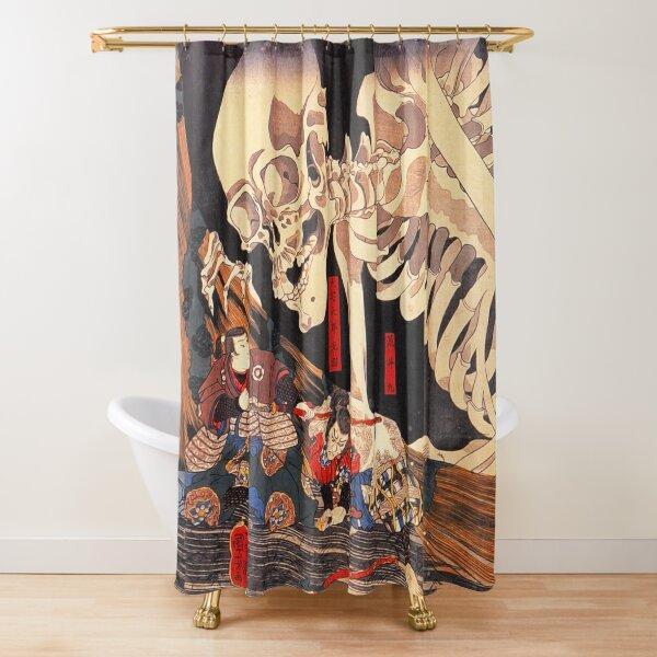 Gashadokuro Skeleton Ghost Shower Curtain