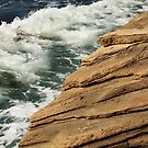 Layers of Rock at the Ocean's Edge by Sophia Covington