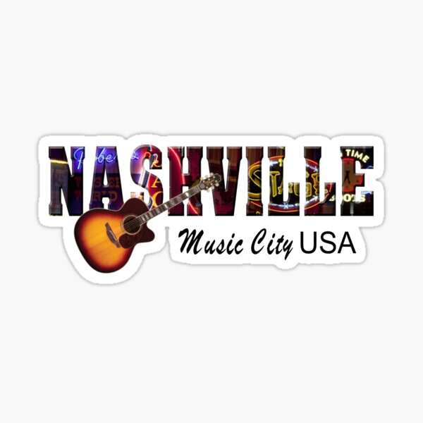 Nashville Music City USA Sticker